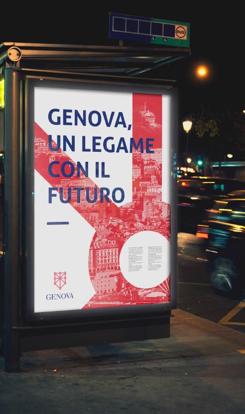 006 | Poster con logo Genova * Comunicazione = OfficineMultiplo
