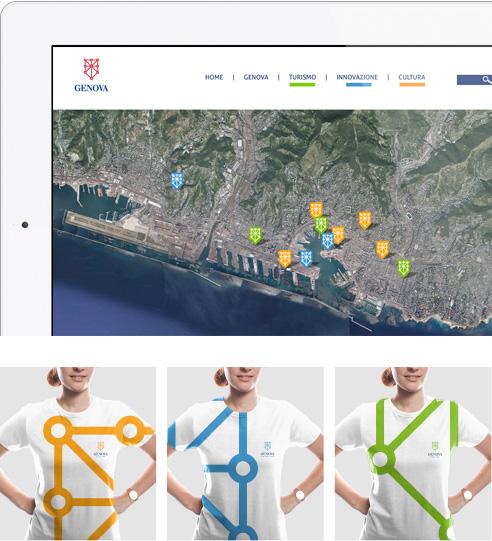 011 | app e tshirts design brand identity logo Genova * Comunicazione = OfficineMultiplo